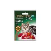 Kit Leve 3 Pague 2 - Antipulgas e Carrapatos Frontline Plus para Gatos