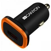 Зарядно Canyon CNE-CCA01B, от автомобилна запалка към USB (ж), 5V, 1A, черно, CNE-CCA01B
