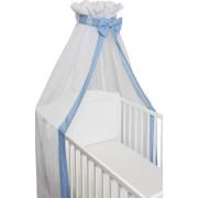 SlaapTextiel Baby Sluier Strik Blauw