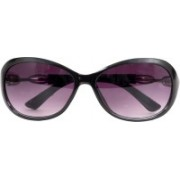 one touch wave Over-sized Sunglasses(Violet)
