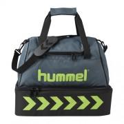 hummel Sporttasche AUTHENTIC- mit Bodenfach - dark slate/green flash |