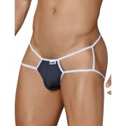 Candyman Contrast Cut Out Jock Thong Jock Strap Underwear Black 99316