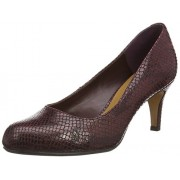 Clarks Women's Arista Abe Burgundy Brown Pumps - 7 UK/India (41 EU)