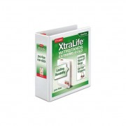 "Xtralife Clearvue Non-Stick Locking Slant-D Binder, 3"" Cap, 11 X 8 1/2, White"