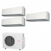 Fujitsu Condizionatore Trial Split Serie LM 7+7+12 Btu ASYG07LMCE +ASYG07LMCE +ASYG12LMCE AOYG18LAT3 7000 7000 12000 R-410A