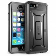 Carcasa 360 grade Supcase Unicorn Beetle Pro iPhone 5/5S/SE cu protectie display Negru