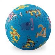 "Crocodile Creek Jungle 123 Playground Ball, Lime Green, 7"""