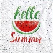 """Papierserviette """"hello summer"""", 33 x 33 cm, 20 Stück"""
