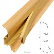 [neu.haus]® Rodapiés PVC (30m x 6cm)(12 x 2,5 m)(haya roja) zócalo con pasacables listón laminado