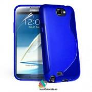 Husa Samsung N7100 Galaxy Note 2 Silicon Gel Tpu S-Line Albastra