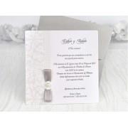 Invitatie nunta cu elemente ornamentale cod 39117