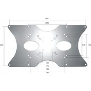 Newstar VESA Conversion Plate from VESA 75x75mm & 100x100mm to 200x100mm, 200x200mm & 400x200mm - Silver