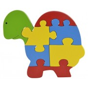Skillofun Wooden Take Apart Baby Puzzle Large -Tortoise, Multi Color