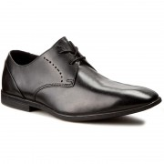 Обувки CLARKS - Bampton Lace 261197957 Black Leather
