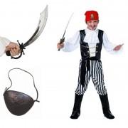 Smiffys Carnavalskleding piraat maat S compleet voor jongens/meisjes