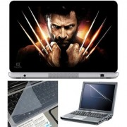 Finearts Laptop Skin Wolverine Attack With Screen Guard And Key Protector - Size 15.6 Inch