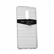 Husa Silicon Transparent Slim I Dont Care Asus Zenfone 2 Laser ZE601KL