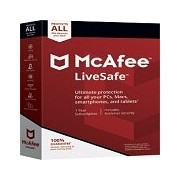 Lenovo McAfee LiveSafe, 15-month Subscription, Electronic Download