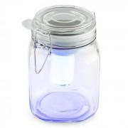 OneConcept WETTERFROSCH, sárga/kék, LED lámpa, befőttes pohár, napelemes, akkumulátor (LEU10-Wetterfrosch)