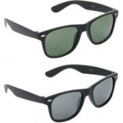 Hrinkar Wayfarer Sunglasses(Green, Grey)