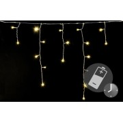 Vianočný dážď - 5 m, 144 LED, teple biely, s časovačom