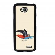 Y&M LG L70 Cell Phone Case Batman And Super Man Pattern Cover (Multicolor)