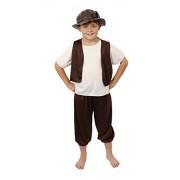 ILOVEFANCYDRESS Tudor Boy Costume Fancy Dress School Curriculum Outfit Boys Poor Set Renaissance Child 10-12 Years