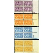 Set of Nine Plate Number Blocks Special Delivery Stamps Mint Never Been Hinged Stamp Scott E15-23 By USPS