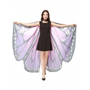 rosegal Oversize Chiffon Butterfly Wing Design Strap Cape