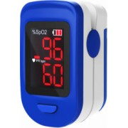 Pulsoximetru RedLine FS10C alb-albastru indica nivelul de saturatie a oxigenului masoara rata pulsului
