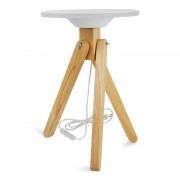 Barcelona LED Table lumineuse LED en bois avec plateau en méthacrylate - Barcelona LED