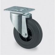 TENTE Transportrolle, drehbar, 125 mm, schwarzer gummi