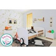 Łóżko dziecięce z barierką ochronną HAPPY - olcha 140x70 cm