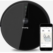 Robot aspirare H.Koenig SWRC120 WaterMop Gyro+ WI-FI compatibil cu Alexa si GoogleHome spalare si aspirare inteligenta autonomie 100 min