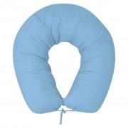 vidaXL Almofada de gravidez 40x170 cm, azul claro