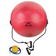 Bola de Pilates 65cm com Extensor e Bomba de Ar - Vermelho