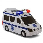 Kidsthrill Bump And Go Justice Police Car - Kids Fun Action Toy With Light And Sirens