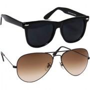 Magjons Aviator Sunglasses Combo Set of 2 With box MJ7778
