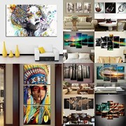 ELECTROPRIME® 5pc Modern Canvas Prints Art Landscape Bedroom Wall Hanging Picture Flash-S