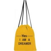 shree saavi Yes I'M A Dreamer 5 L Backpack(Yellow)