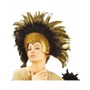 Moulin Rouge - svart och guldfärgad huvudbonad