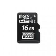 16GB microSDHC, Goodram M1A0-0160R11, Class 10 UHS-I, скорост на четене 60 MB/Sec, скорост на запис 10 MB/Sec