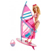 Barbie On-The-Go Beach Doll and Windsurfer Set