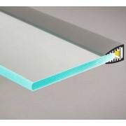 Aluminium U profil , LED szalaghoz , 5 mm-es üveglaphoz , EDGE-1