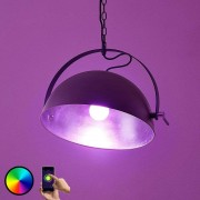LED hanging light Muriel WiFi black/silver