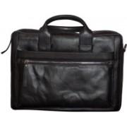 Kan Black Genuine Leather Backpack/Messenger Bag For Men and Women 7 L Laptop Backpack(Black)