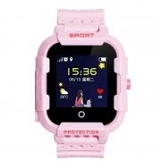 Ceas Inteligent pentru copii WONLEX KT03 Roz, cu GPS, rezistent la apa, localizare WiFI si monitorizare spion
