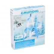 Grundig - LED Decorațiune de crăciun 8xLED/3xAAA om de zăpadă