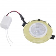 ER 3W LED Lámpara De Techo De Cristal Caliente/fría Luz Blanca Abajo Spotlight Inicio Oficina