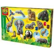 Ses Junior - Set Creativ Mulaj 3D Si Pictura - Animale